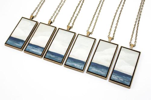 Landscape Painting Pendant - Open Ocean