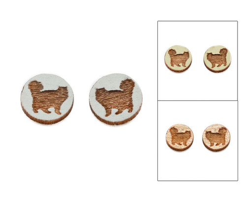 Cameo Post Earrings - Cat (#13)