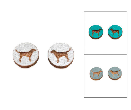 Cameo Post Earrings - Dog (Lab)