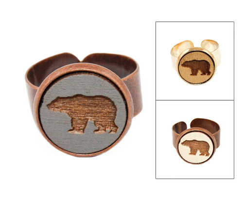Small Cameo Ring - Bear