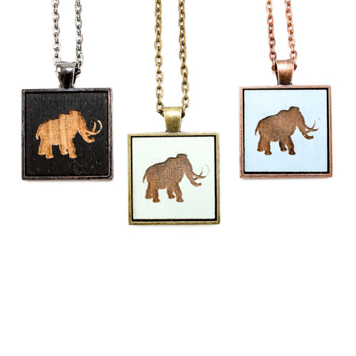 Small Cameo Pendant - Wooly Mammoth