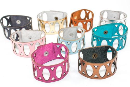 Leather Bracelet - Divided Ovals