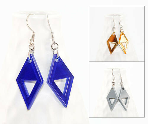 Acrylic Dangle Earrings - Double Triangle
