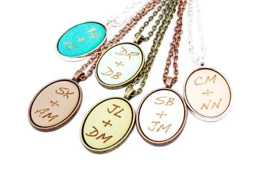 Custom Cameo Pendant - Initials