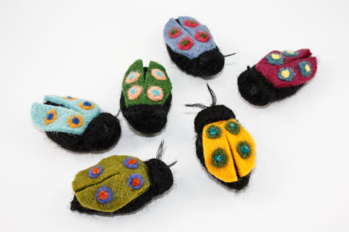 Needle Felted Beetle (Choose Your Color)