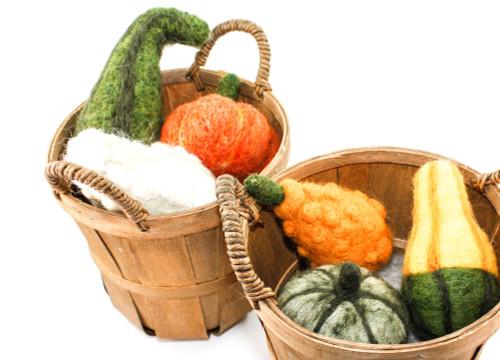 Needle Felted Gourds (Handmade Autumn Squash)