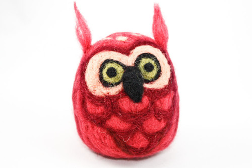 Needle Felted Owl (Pink)