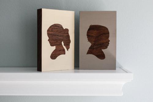 Woodblock Portrait - Children's Silhouette