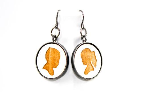 Custom Dangle Earrings - Children's Portrait