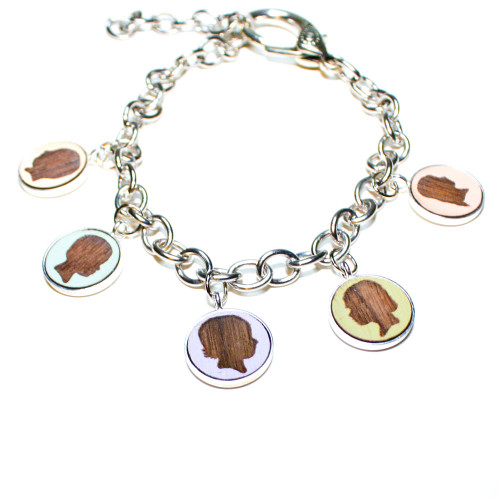 Custom Charm Bracelet - Children's Portrait