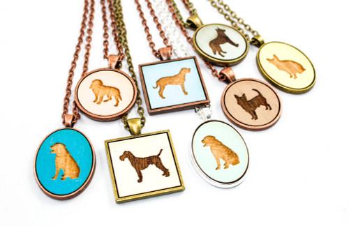 Custom Dog Pendant - Choose Your Breed