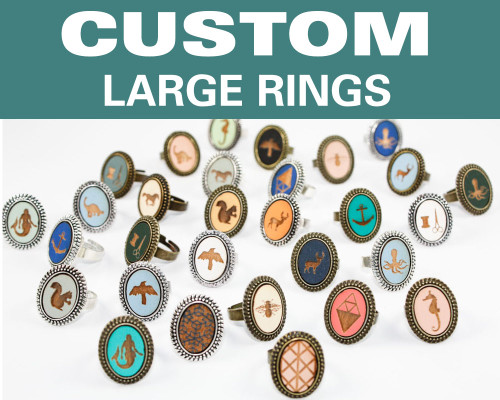 Custom Large Ring - Any Design / Any Color