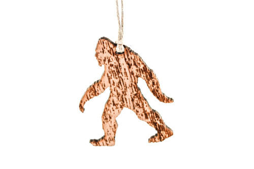 Wood Christmas Ornament: Sasquatch / Bigfoot