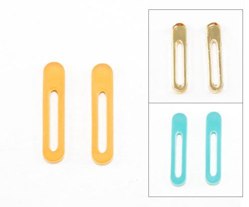 Acrylic Post Earrings - Elongated Oval Design