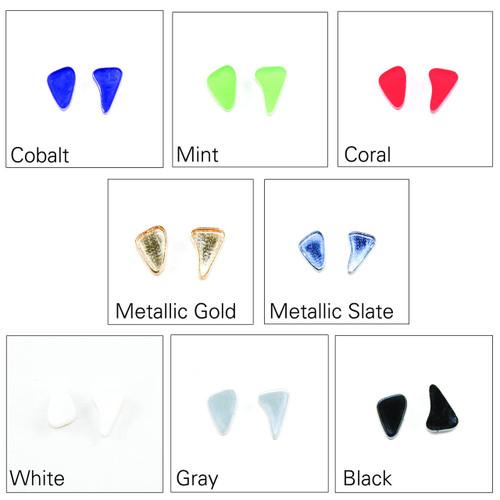 Acrylic Post Earrings - Asymmetrical Amoeba Shape