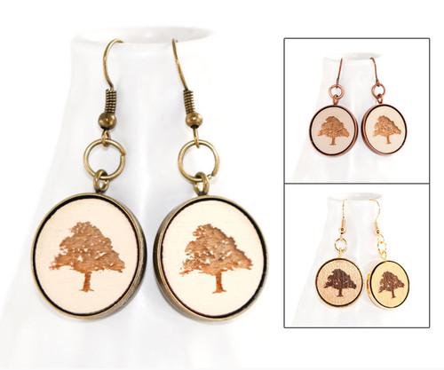 Dangle Earrings - Oak Tree