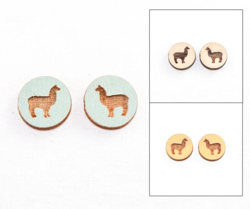 Cameo Post Earring - Llama