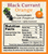 Nature Keepers Black Currant Orange preserve 10oz nutrition label