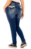Plus Size Luscious Curvy Embellished Skinny Jeans In Addison