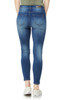 Sassy Stacked High-Waisted Skinny Jeans In Dahlia
