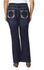 Plus Size Luscious Curvy Bling Bootcut Jeans In Panther