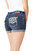 Bling Pocket Luscious Curvy Shorty Shorts In Kyle