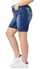 Plus Size Luscious Curvy Bling Bermuda Shorts In Vienna