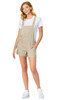 Linen Shortalls In Khaki