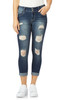 Luscious Curvy Destructed Ankle Jeans In Shawna