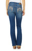 Luscious Curvy Bling Bootcut Jeans In Afterglow