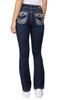 Luscious Curvy Embellished Bootcut Jeans In Evan