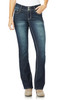 Plus and Regular Luscious Curvy Bling Bootcut Jeans In Marcy