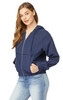 InstaChill™ Linen Hooded Windbreaker Jacket In Navy