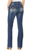 Plus Size Luscious Curvy Bling Bootcut Jeans In Twinkle
