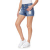 Flirty Curvy Exposed Button Shorty Shorts In Yves