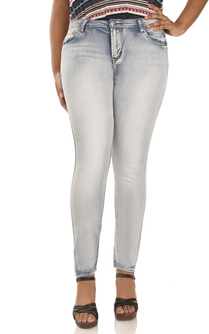 Plus Size Ultra Luxe Skinny Jeans In Ivy