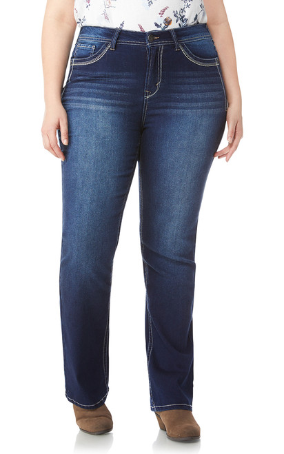 Plus Size Washed Classic Legendary Bootcut Jeans In Keller