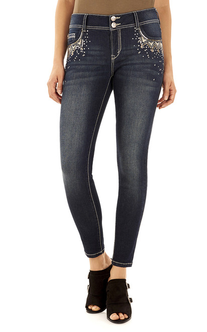 Luscious Curvy Bling Skinny Jeans In Libby
