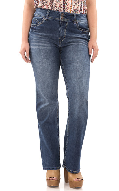 WallFlower Plus Size Luscious Curvy Basic Bootcut Jeans in Addison Size:20