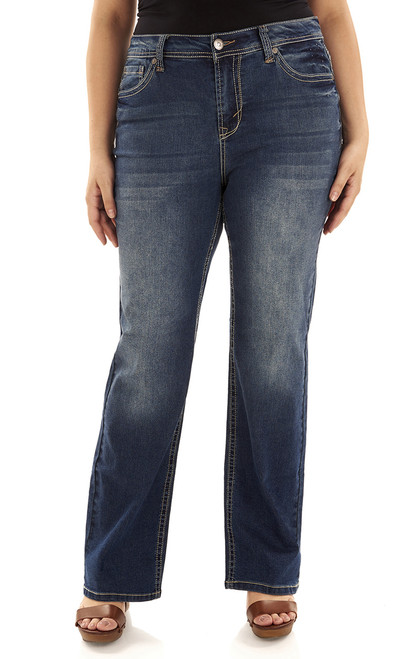 "Plus Basic Legendary Bootcut Jeans (30-32-34"") In Katy"