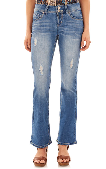 """Luscious Curvy Basic Bootcut Jeans (30-32"""") In Margot"""