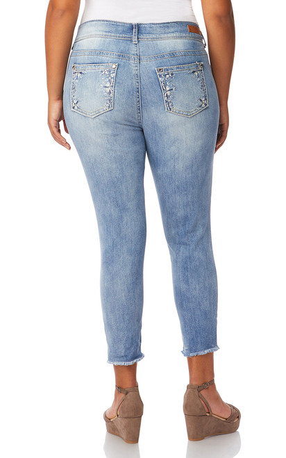 Plus Size Luscious Curvy Bling Ankle Skinny Jeans In Chance