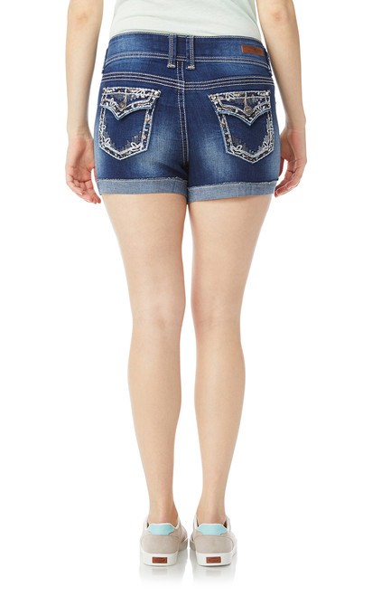 Luscious Curvy Bling Shorts In Brodie