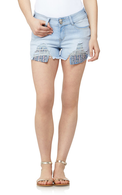 Luscious Curvy Exposed Pocket Shorts In Everly