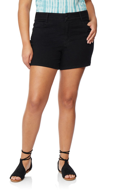 Plus Size InstaSoft™ Ultra Fit Shorts In Black