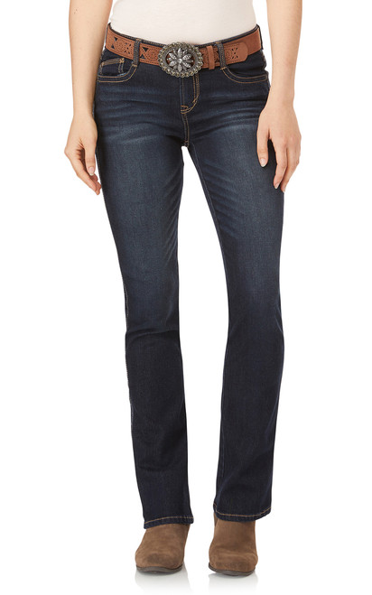 Legendary Slim Belted Bootcut Jeans In Shay