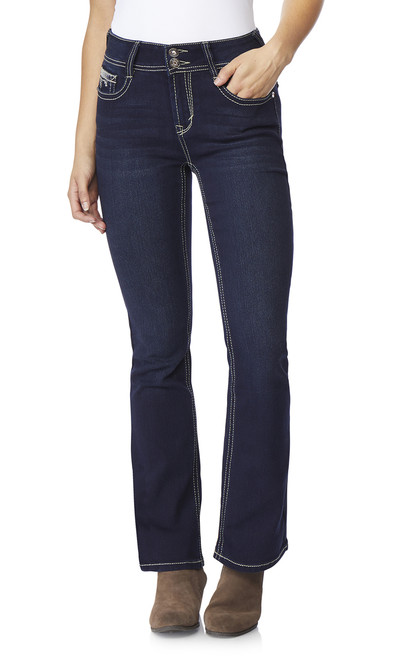 Luscious Curvy Bling Bootcut Jeans In Panther