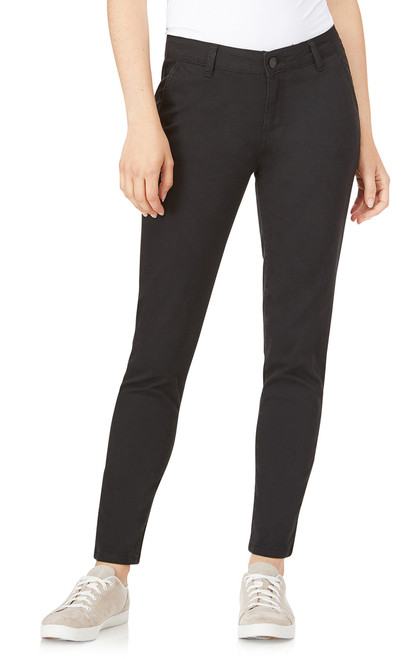Trouser Skinny Uniform Pants In Black