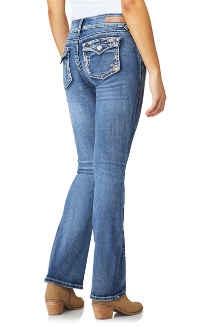 Luscious Curvy Bootcut Jeans In PrimeTime