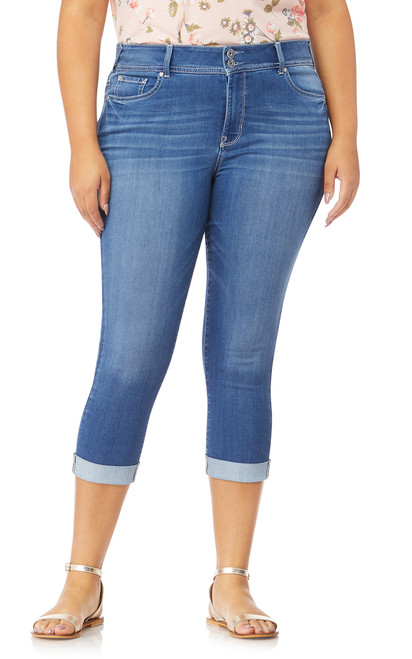 Plus Size InstaSoft™ Ultra Skinny Crop Jeans In Florence